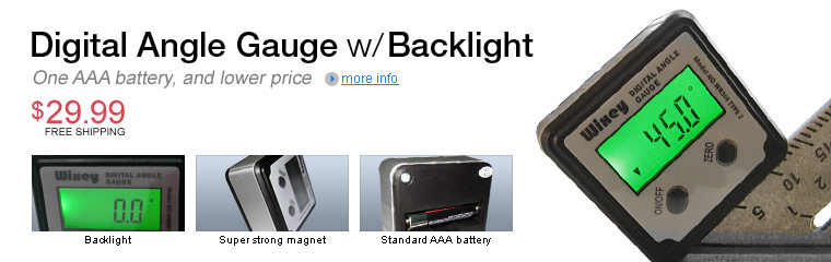 Angle Gauge backlight